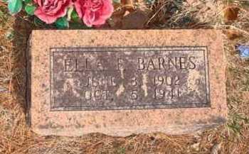 BARNES, ELLA F. - Boone County, Arkansas | ELLA F. BARNES - Arkansas Gravestone Photos