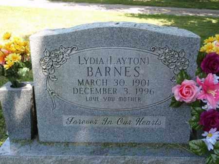 LAYTON BARNES, LYDIA - Boone County, Arkansas | LYDIA LAYTON BARNES - Arkansas Gravestone Photos