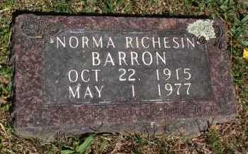 RICHESIN BARRON, NORMA - Boone County, Arkansas | NORMA RICHESIN BARRON - Arkansas Gravestone Photos