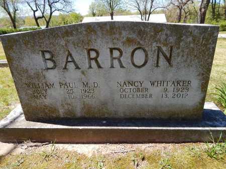 BARRON, WILLIAM PAUL  (DOCTOR) - Boone County, Arkansas   WILLIAM PAUL  (DOCTOR) BARRON - Arkansas Gravestone Photos