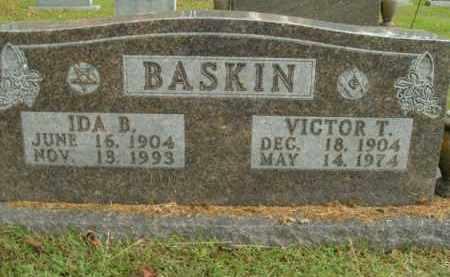 BASKIN, VICTOR T. - Boone County, Arkansas | VICTOR T. BASKIN - Arkansas Gravestone Photos