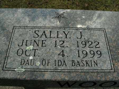 BASKIN WOODMAN, SALLY J. - Boone County, Arkansas | SALLY J. BASKIN WOODMAN - Arkansas Gravestone Photos
