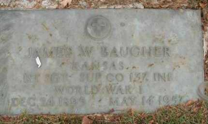 BAUGHER  (VETERAN WWI), JAMES WALLACE - Boone County, Arkansas | JAMES WALLACE BAUGHER  (VETERAN WWI) - Arkansas Gravestone Photos
