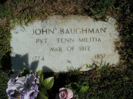 BAUGHMAN  (VETERAN 1812), JOHN - Boone County, Arkansas   JOHN BAUGHMAN  (VETERAN 1812) - Arkansas Gravestone Photos