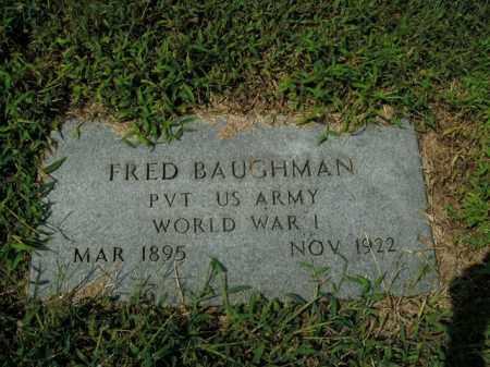BAUGHMAN  (VETERAN WWI), FRED - Boone County, Arkansas | FRED BAUGHMAN  (VETERAN WWI) - Arkansas Gravestone Photos