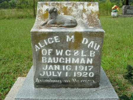 BAUGHMAN, ALICE M. - Boone County, Arkansas   ALICE M. BAUGHMAN - Arkansas Gravestone Photos