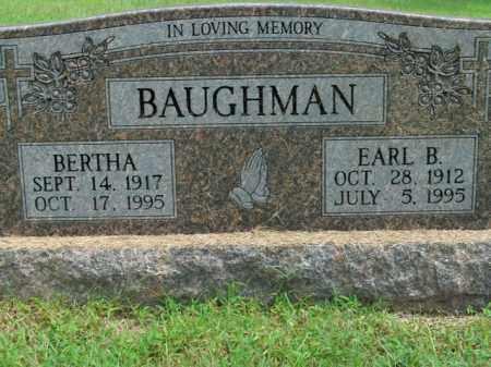 BAUGHMAN, EARL B. - Boone County, Arkansas | EARL B. BAUGHMAN - Arkansas Gravestone Photos