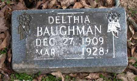 BAUGHMAN, DELTHIA - Boone County, Arkansas | DELTHIA BAUGHMAN - Arkansas Gravestone Photos