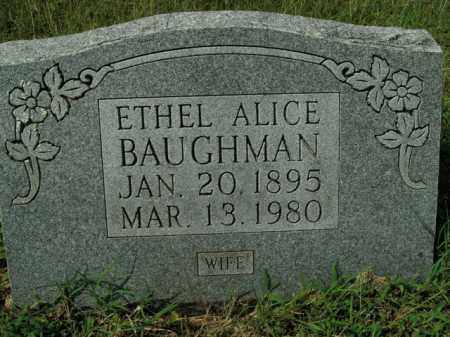 BAUGHMAN, ETHEL ALICE - Boone County, Arkansas   ETHEL ALICE BAUGHMAN - Arkansas Gravestone Photos