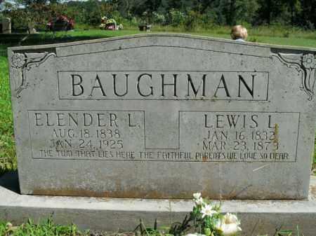 MILUM BAUGHMAN, ELENDER L. - Boone County, Arkansas | ELENDER L. MILUM BAUGHMAN - Arkansas Gravestone Photos