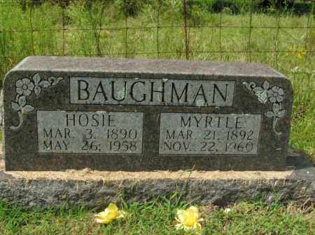 BAUGHMAN, HOSIE - Boone County, Arkansas | HOSIE BAUGHMAN - Arkansas Gravestone Photos