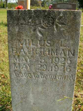 BAUGHMAN, MILUS L. - Boone County, Arkansas   MILUS L. BAUGHMAN - Arkansas Gravestone Photos