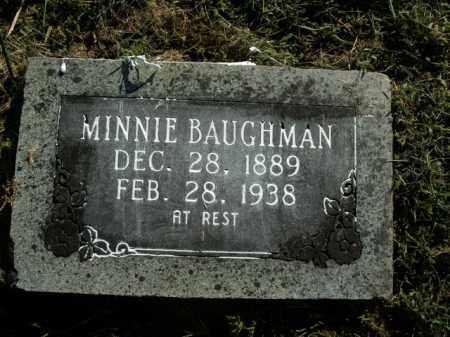 BAUGHMAN, MINNIE - Boone County, Arkansas | MINNIE BAUGHMAN - Arkansas Gravestone Photos