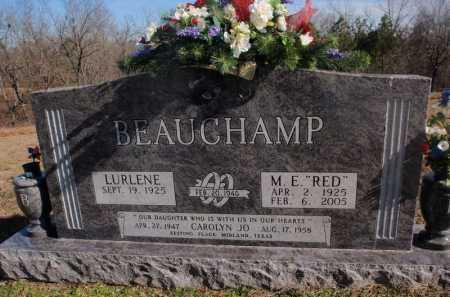 BEAUCHAMP, M.  E.  (RED) - Boone County, Arkansas   M.  E.  (RED) BEAUCHAMP - Arkansas Gravestone Photos