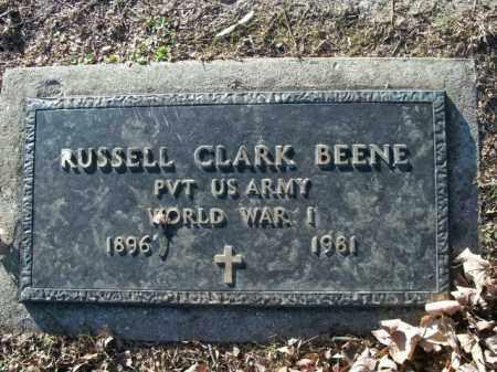 BEENE  (VETERAN WWI), RUSSELL CLARK - Boone County, Arkansas   RUSSELL CLARK BEENE  (VETERAN WWI) - Arkansas Gravestone Photos