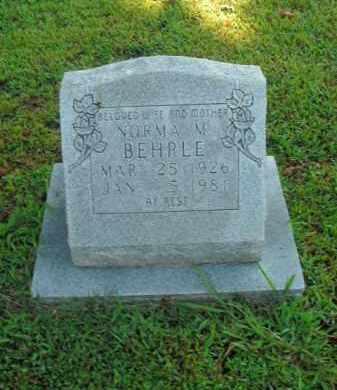 BEHRLE, NORMA M. - Boone County, Arkansas | NORMA M. BEHRLE - Arkansas Gravestone Photos