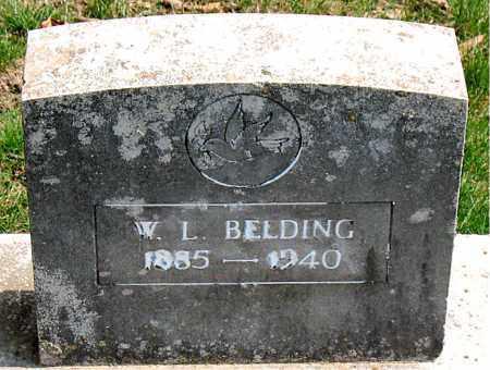 BELDING, W.  L. - Boone County, Arkansas | W.  L. BELDING - Arkansas Gravestone Photos