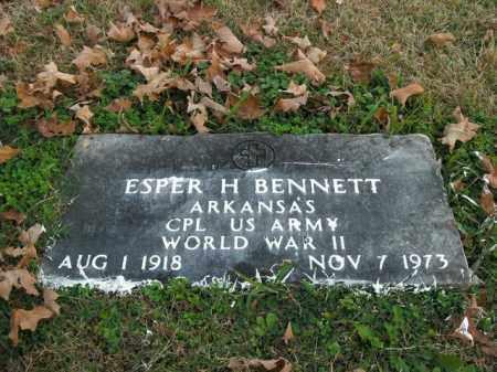 BENNETT  (VETERAN WWII), ESPER H - Boone County, Arkansas | ESPER H BENNETT  (VETERAN WWII) - Arkansas Gravestone Photos
