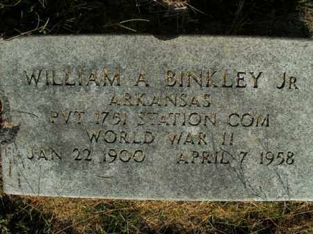 BINKLEY  (VETERAN WWII), WILLIAM A JR - Boone County, Arkansas | WILLIAM A JR BINKLEY  (VETERAN WWII) - Arkansas Gravestone Photos