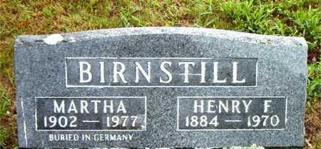 BIRNSTILL, MARTHA - Boone County, Arkansas   MARTHA BIRNSTILL - Arkansas Gravestone Photos