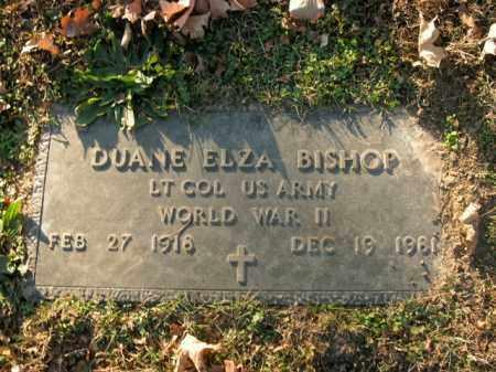 BISHOP  (VETERAN WWII), DUANE ELZA - Boone County, Arkansas   DUANE ELZA BISHOP  (VETERAN WWII) - Arkansas Gravestone Photos