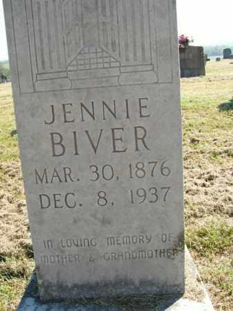 BIVER, JENNIE - Boone County, Arkansas   JENNIE BIVER - Arkansas Gravestone Photos
