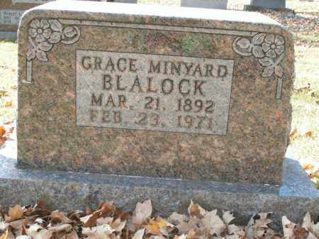 MINYARD BLALOCK, GRACE - Boone County, Arkansas   GRACE MINYARD BLALOCK - Arkansas Gravestone Photos