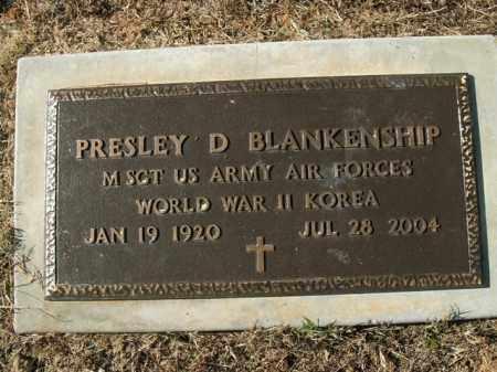 BLANKENSHIP  (VETERAN 2 WARS), PRESLEY D - Boone County, Arkansas | PRESLEY D BLANKENSHIP  (VETERAN 2 WARS) - Arkansas Gravestone Photos