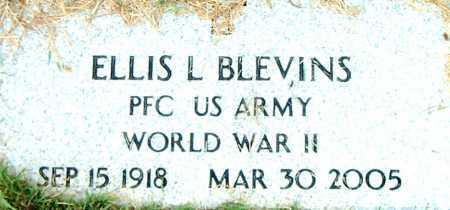 BLEVINS  (VETERAN WWII), ELLIS L - Boone County, Arkansas | ELLIS L BLEVINS  (VETERAN WWII) - Arkansas Gravestone Photos