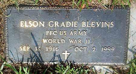 BLEVINS  (VETERAN WWII), ELSON GRADIE - Boone County, Arkansas   ELSON GRADIE BLEVINS  (VETERAN WWII) - Arkansas Gravestone Photos