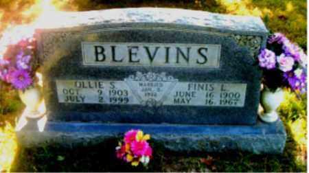 BLEVINS, FINIS L. - Boone County, Arkansas | FINIS L. BLEVINS - Arkansas Gravestone Photos