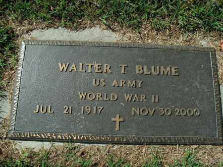 BLUME  (VETERAN WWII), WALTER T - Boone County, Arkansas   WALTER T BLUME  (VETERAN WWII) - Arkansas Gravestone Photos