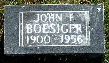 BOESIGER, JOHN F. - Boone County, Arkansas | JOHN F. BOESIGER - Arkansas Gravestone Photos