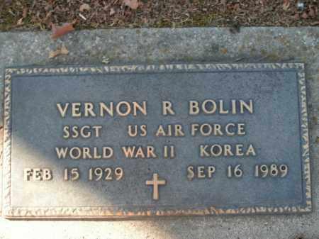 BOLIN  (VETERAN 2 WARS), VERNON R - Boone County, Arkansas | VERNON R BOLIN  (VETERAN 2 WARS) - Arkansas Gravestone Photos