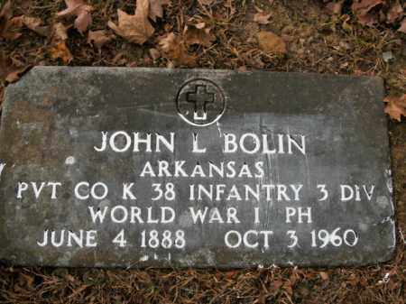BOLIN  (VETERAN WWI), JOHN LEMUEL - Boone County, Arkansas | JOHN LEMUEL BOLIN  (VETERAN WWI) - Arkansas Gravestone Photos