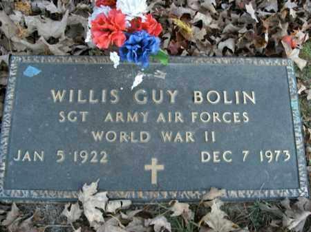 BOLIN  (VETERAN WWII), WILLIS GUY - Boone County, Arkansas | WILLIS GUY BOLIN  (VETERAN WWII) - Arkansas Gravestone Photos