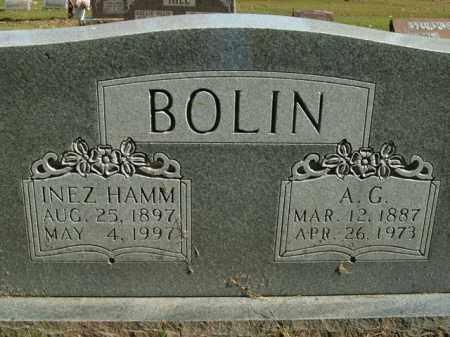 HAMM BOLIN, INEZ - Boone County, Arkansas | INEZ HAMM BOLIN - Arkansas Gravestone Photos