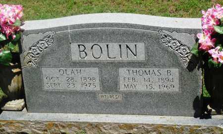BOLIN, OLAH - Boone County, Arkansas | OLAH BOLIN - Arkansas Gravestone Photos