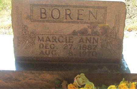 BOREN, MARGIE ANN - Boone County, Arkansas | MARGIE ANN BOREN - Arkansas Gravestone Photos