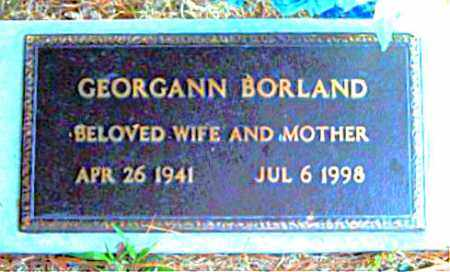 BORLAND, GEORGANN - Boone County, Arkansas | GEORGANN BORLAND - Arkansas Gravestone Photos