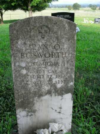 BOSWORTH  (VETERAN), JEAN O. - Boone County, Arkansas | JEAN O. BOSWORTH  (VETERAN) - Arkansas Gravestone Photos