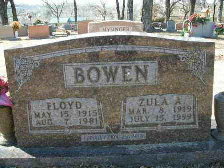BOWEN, ZULA A. - Boone County, Arkansas | ZULA A. BOWEN - Arkansas Gravestone Photos