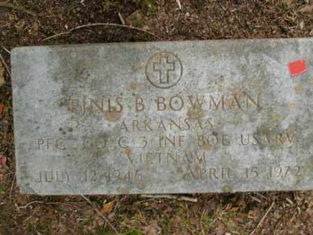 BOWMAN  (VETERAN VIET), FINIS B. - Boone County, Arkansas | FINIS B. BOWMAN  (VETERAN VIET) - Arkansas Gravestone Photos