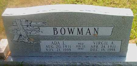 BOWMAN, ADA L. - Boone County, Arkansas | ADA L. BOWMAN - Arkansas Gravestone Photos