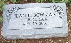 BOWMAN, JEAN  L. - Boone County, Arkansas | JEAN  L. BOWMAN - Arkansas Gravestone Photos