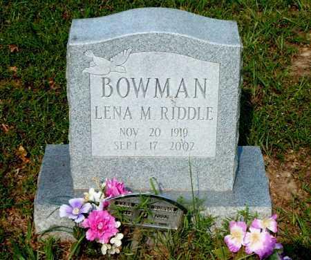 RIDDLE BOWMAN, LENA M. - Boone County, Arkansas | LENA M. RIDDLE BOWMAN - Arkansas Gravestone Photos