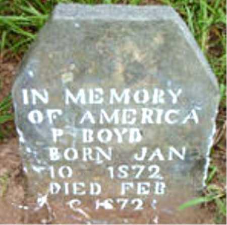 BOYD, AMERICA P. - Boone County, Arkansas   AMERICA P. BOYD - Arkansas Gravestone Photos