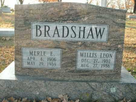 BRADSHAW, WILLIS LEON - Boone County, Arkansas   WILLIS LEON BRADSHAW - Arkansas Gravestone Photos