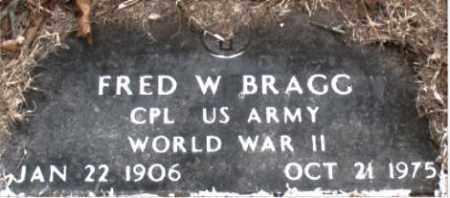 BRAGG  (VETERAN WWII), FRED W - Boone County, Arkansas | FRED W BRAGG  (VETERAN WWII) - Arkansas Gravestone Photos
