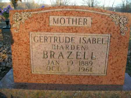 HARDEN BRAZELL, GERTRUDE ISABEL - Boone County, Arkansas | GERTRUDE ISABEL HARDEN BRAZELL - Arkansas Gravestone Photos